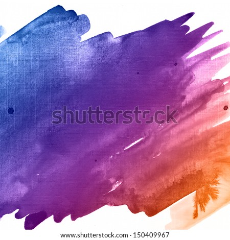 Colorful watercolor background - stock photo