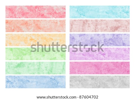 Colorful watercolor brush strokes for background. - stock photo