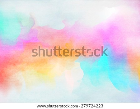 Colorful Watercolor. Grunge texture background.  - stock photo
