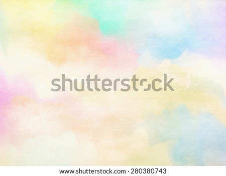 Colorful Watercolor. Grunge texture background. Soft background. - stock photo