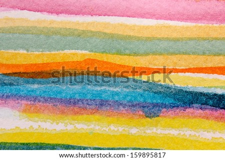 Colorful Watercolor Stripes 4 - stock photo