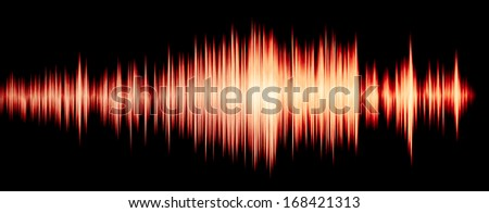 colorful waveform - stock photo