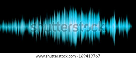 colorful waveform blue  - stock photo
