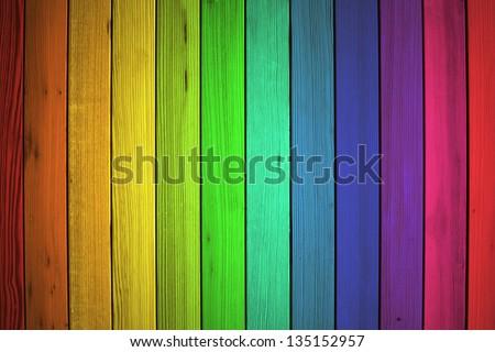 Colorful Wood Background - stock photo