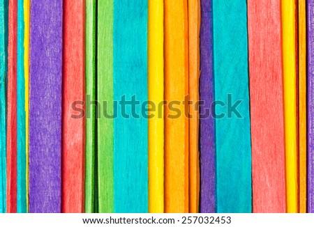 colorful wood ice cream stick - stock photo