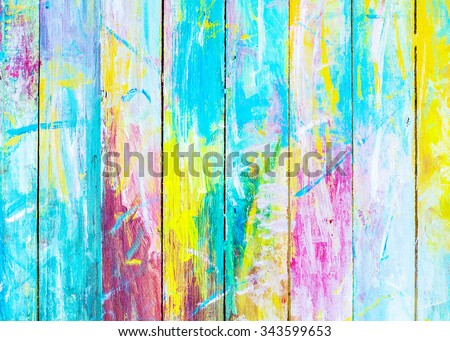 colorful  wooden painted background, Christmas background - stock photo