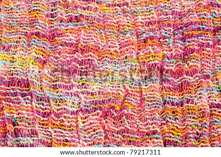 colorful wool fabric for background - stock photo