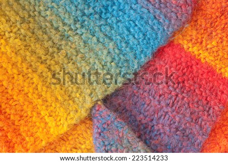 colorful woolen texture - stock photo