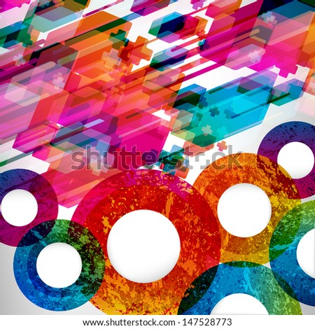 Colorfull abstract design background.  - stock photo