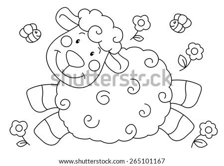 crippled lamb coloring pages - photo#6