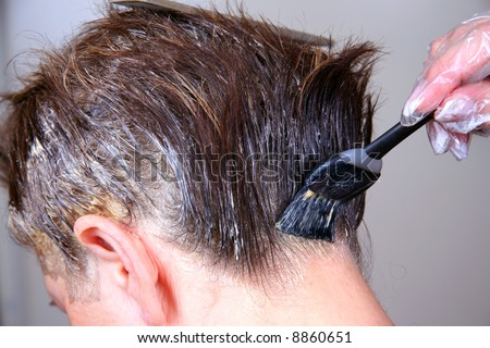 Coloring hair - stock photo