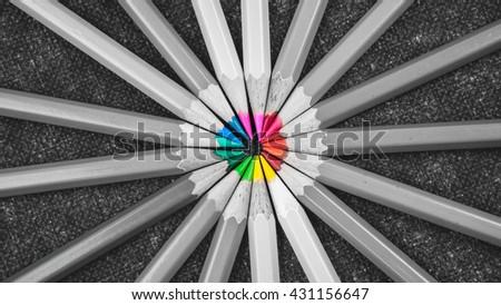 Coloring pencils - stock photo