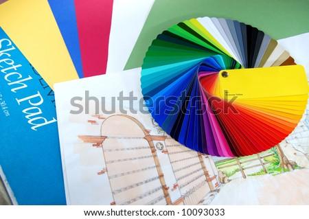 Coloring plan - stock photo
