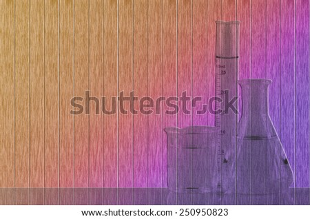 Colorize Laboratory Background with Outline of Laboratory Equipment.Isolated with clipping path. - stock photo