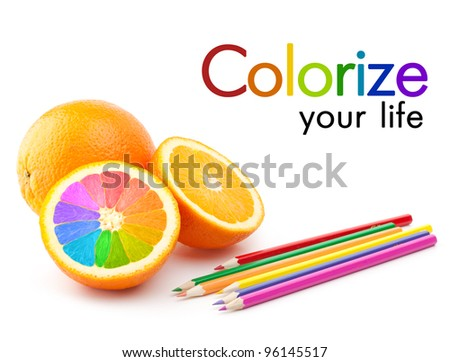 colorize your life concept - stock photo