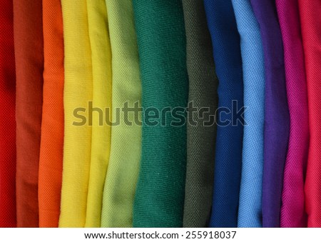colors fabric - stock photo