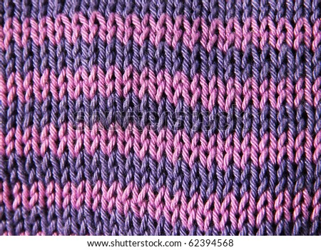 Colors knitted wool close up - stock photo