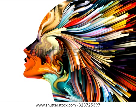 Colors of Imagination series. Artistic background made of streaks of color for use with projects on art, creativity, imagination and graphic design - stock photo