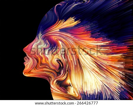 Colors of Imagination series. Backdrop composed of streaks of color and suitable for use in the projects on art, creativity, imagination and graphic design - stock photo