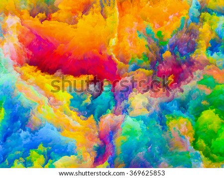 Colors of Imagination series. Backdrop design of Colorful three dimensional textures for works on design, creativity, imagination and art - stock photo