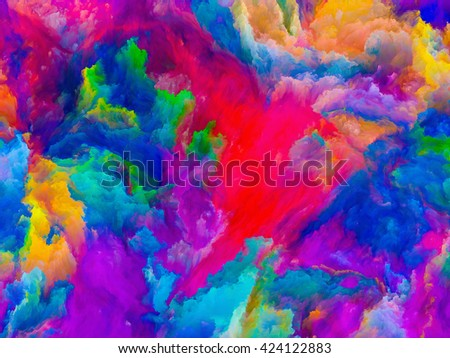 Colors of Imagination series. Composition of Colorful three dimensional textures on the subject of design, creativity, imagination and art - stock photo