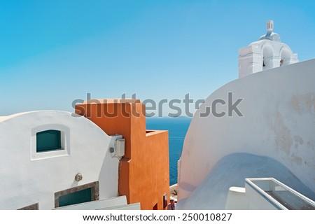 Colors of Oia, Santorini, Greece - stock photo