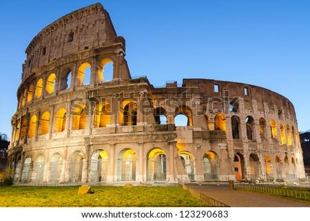 Colosseo - Roma - Lazio - Flavian's Amphitheatrum - Colosseum - stock photo
