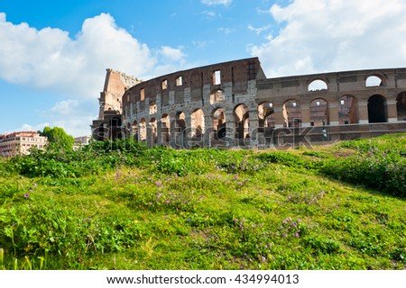 Colosseum at spring morning, Rome, Italy - stock photo
