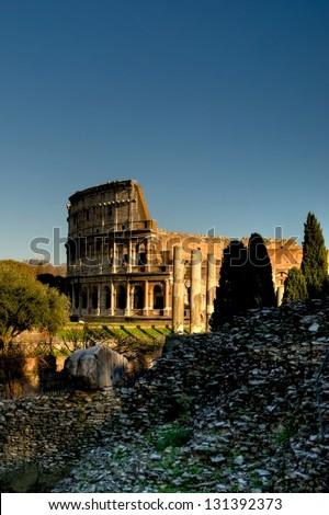Colosseum, Rome, Italy - stock photo
