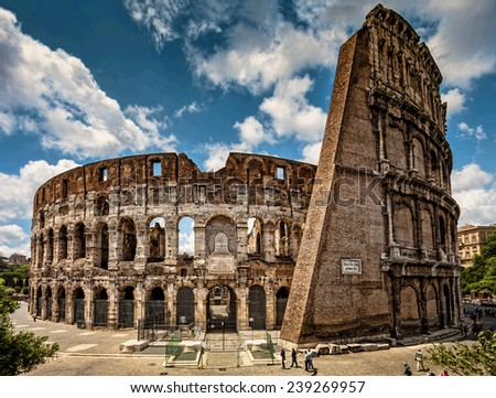 Colosseum, Rome, Italy. - stock photo