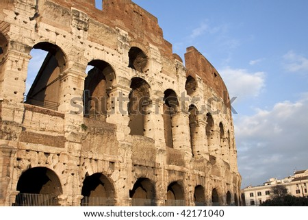Colosseum Rome Italy - stock photo