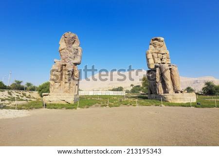 Colossi of Memnon - stock photo