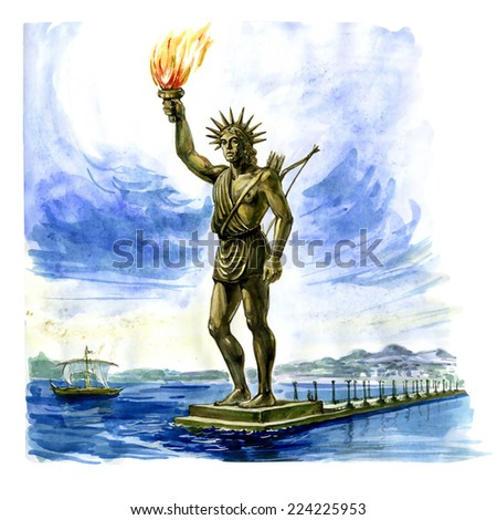 Colossus of Rhodes - stock photo