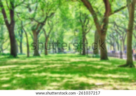 Colour blurred defocus background image from NYC - stock photo