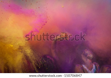 colour festival - stock photo