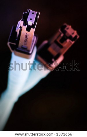 Colour internet cable - stock photo
