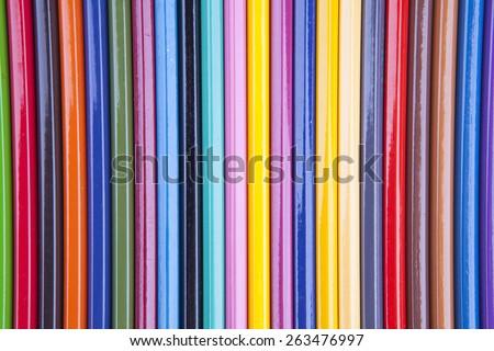 Colour pencils background - stock photo