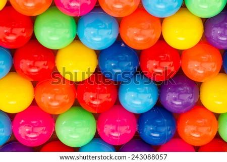 Colour plastic balls - stock photo