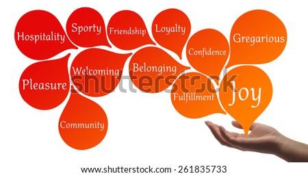 Colour Therapy - Orange healing energy - stock photo