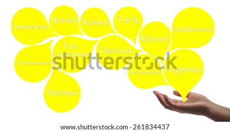 Colour Therapy - Yellow healing energy - stock photo