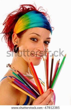 Colour your life 002 - stock photo
