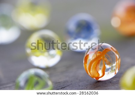 Coloured Marbles - stock photo