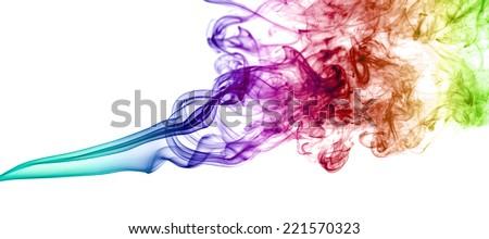 Coloured smoke  - stock photo