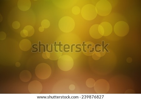 Colourful bokeh background made with autumn shades and circles  - stock photo