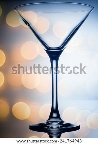 colourful coctail glass on the light background close up - stock photo