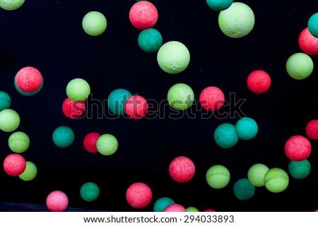 Colourful foam balls. - stock photo