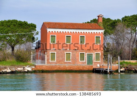 Colourful House in Venice, Italy - stock photo