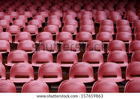 colourful stadium seat - stock photo