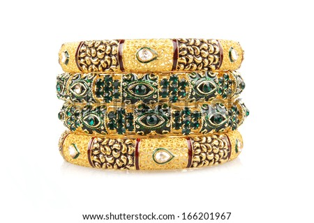 Colourfull Indian Bangles. - stock photo