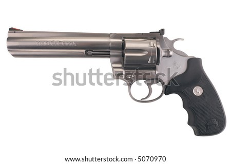 Colt Magnum - isolated on white - stock photo